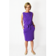 UNO - cotton midi sleeveless dress - violet