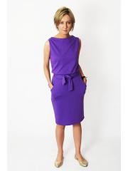 UNO - Baumwoll Midi ärmelloses Kleid - violett