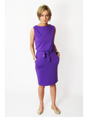 UNO - cotton midi sleeveless dress - violet