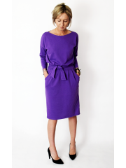KIKA - cotton midi dress - violet