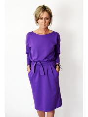 KIKA - cotton midi dress - violet
