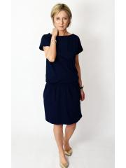 SPALLA - mini cotton dress - navy blue