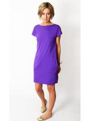 PAULA - Sweatshirt Minikleid - Violett