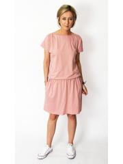 SPALLA - mini cotton dress - dirty pink