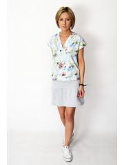 VIVO - T-Shirt mit V-Ausschnitt - marineblaue Tupfen