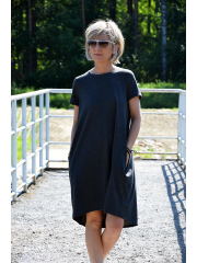 TESSA - A-shaped dress with short sleeves