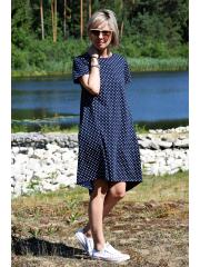 sukienka TESSA - groszki granat