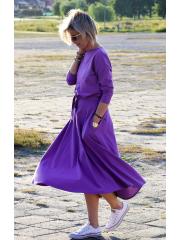 sukienka ADELA - kolor FIOLETOWY
