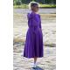 ADELA - Midi Flared cotton dress - violet