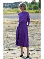 ADELA - Midi Ausgestelltes Kleid gestrickt - violett