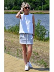 NIKITA - cotton mini skirt with a string for tying