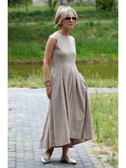 sukienka AUDREY - mokka w groszki
