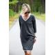 KARO - cotton mini long sleeve dress
