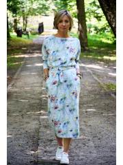 NINA - Baumwoll kleider maxi - violett