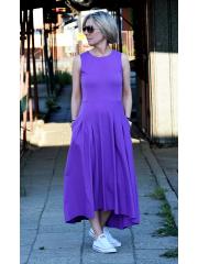 sukienka AUDREY - kolor FIOLETOWY