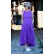 AUDREY - long cotton dress - violet