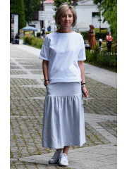 RENA - creased midi skirt with pockets