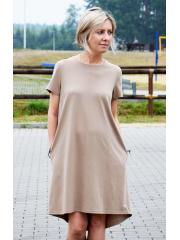 sukienka TESSA - kolor MOKKA