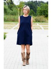 sukienka RACHEL - kolor GRANATOWY
