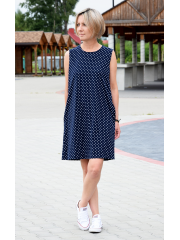 RACHEL - cotton mini dress - navy blue