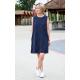 RACHEL - cotton mini dress - navy blue polka dots