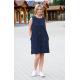 RACHEL - cotton mini dress - navy blue