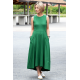 AUDREY - long cotton dress - green