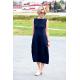 sukienka FRENCH - kolor GRANATOWY