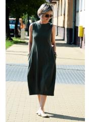 sukienka dresowa FRENCH - kolor KHAKI