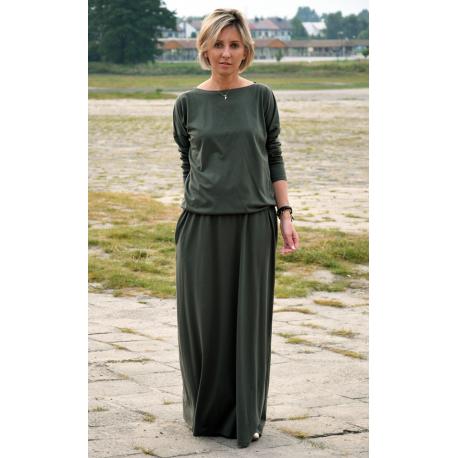 sukienka MAXIMA - kolor KHAKI