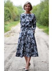 sukienka ADELA - kwiaty moro