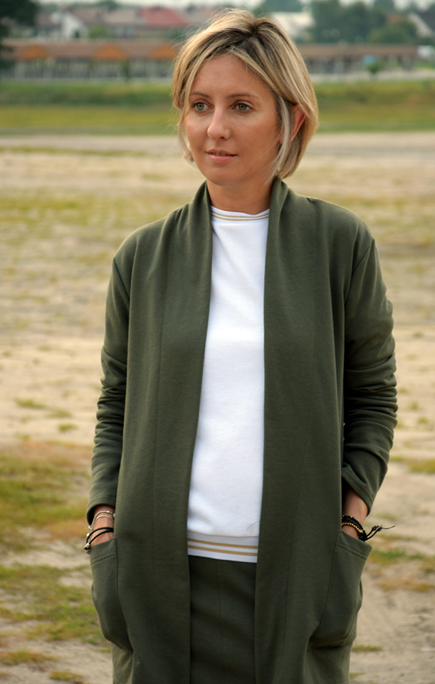 Kardigan w kolorze khaki