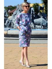 sukienka KIKA - kwiaty szare