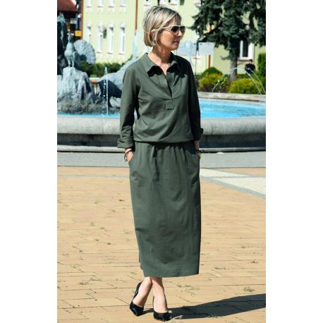 sukienka IVETT - kolor KHAKI