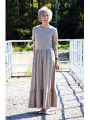 sukienka MARGO - groszki mokka