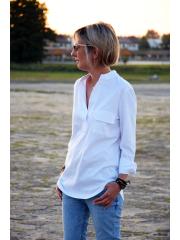 bawełniana bluzka LOLITA - kolor biały