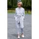 FALKO - buttoned cotton jumpsuit with belt