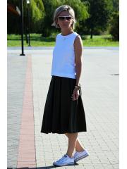 KARI - Cotton midi skirt - dirty pink